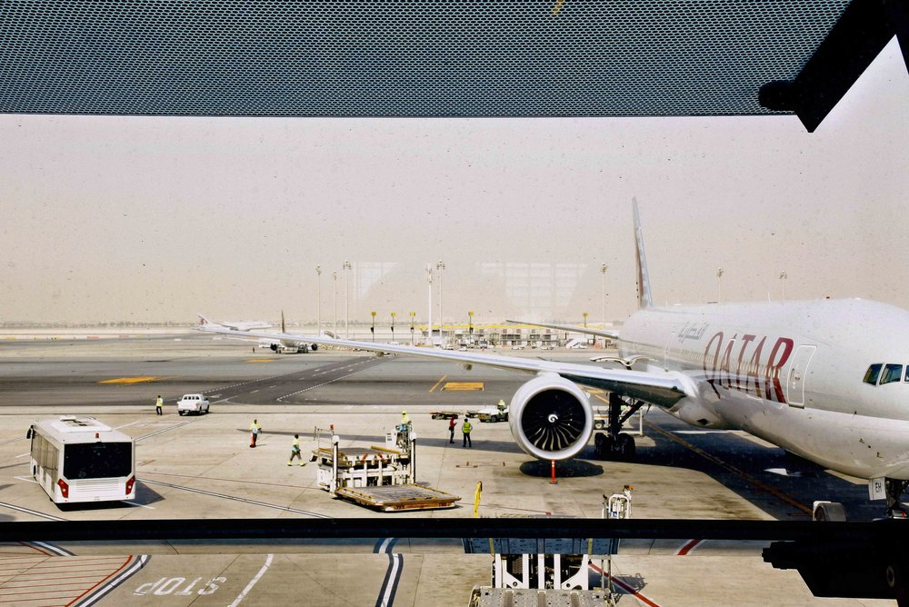 Qatar Airlines conducts the longest commercial flight.