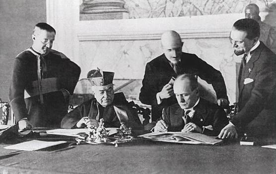 Signing of the Lateran Treaty