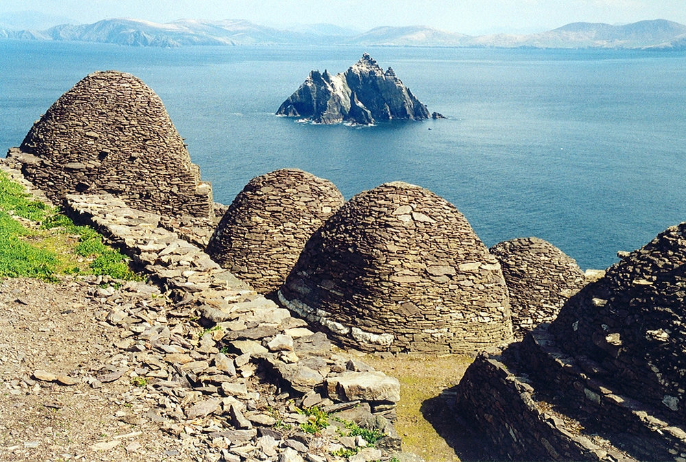 Beehive Huts of Skellig Michael  (Photo by  Arian Zwegers )