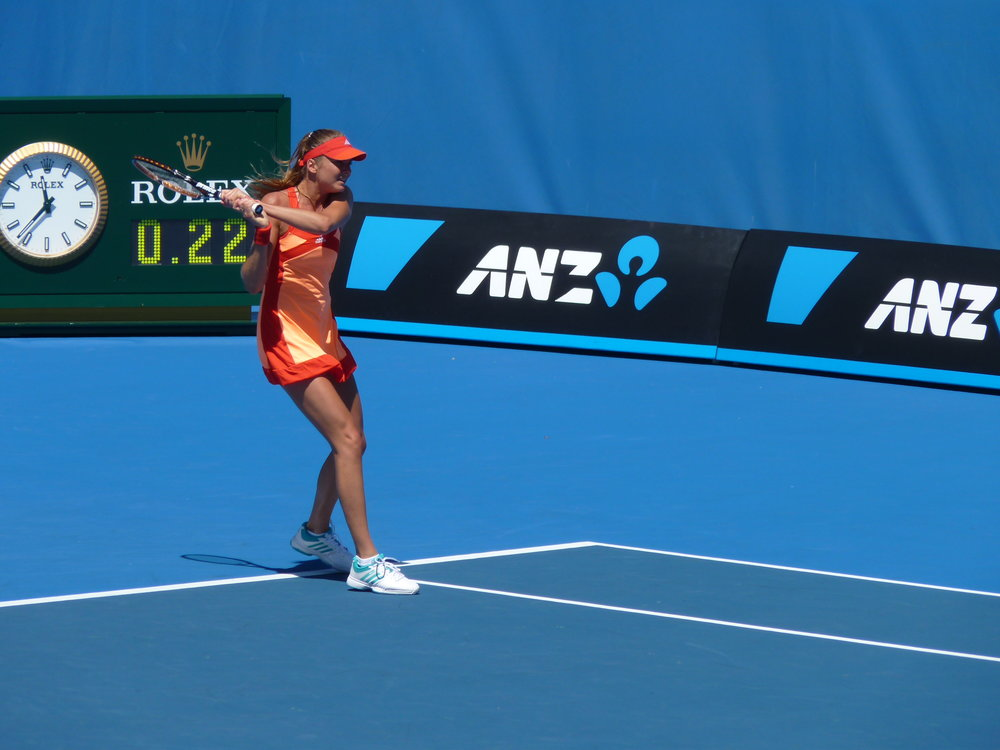 Daniela Hantuchova on the court at the Australian Open — a favorite with local tennis  fans. (Photo by heatherbell2011 / CC BY 2.0)