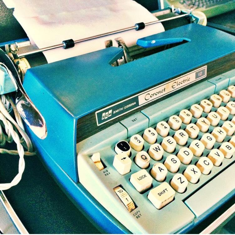 Blue Type Writer