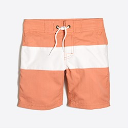 3. J. Crew Factory Striped Swim Trunks