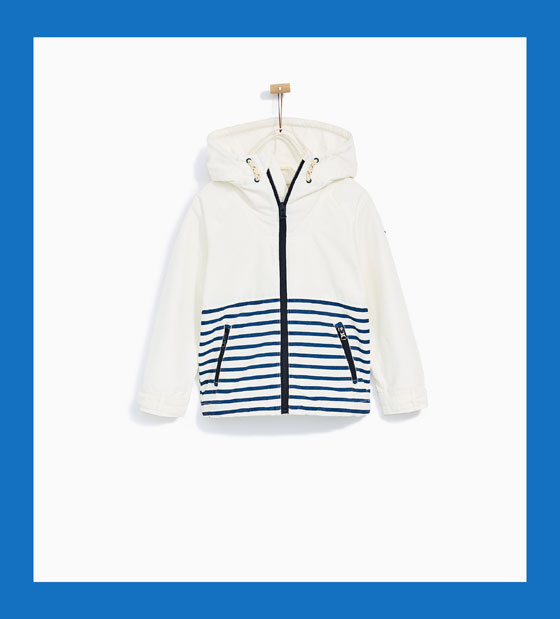 7. Zara Boys Rain Jacket