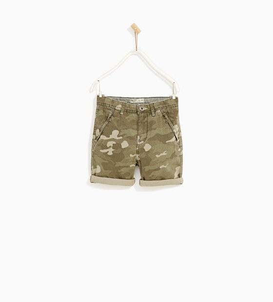 8. Zara Boys Camo Shorts