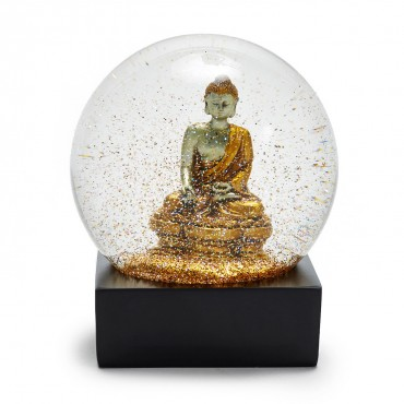 ABC Carpet & Home golden buddha snow globe $60