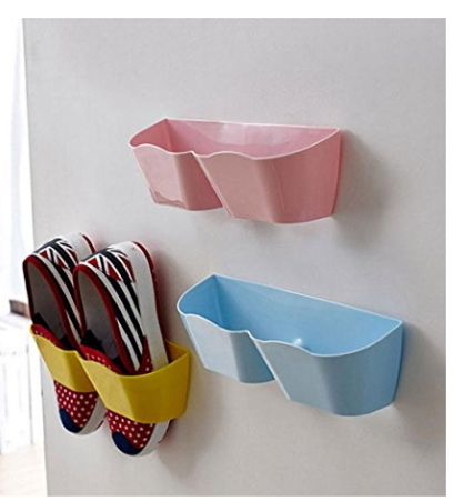 Wall Mounted Shoes Rack - 4 PCS Plastic Shoe Storage Racks $8.99