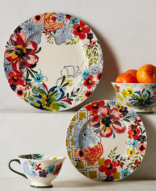 Anthropologie- Sissinghurst Castle Dinnerware (priced per item)