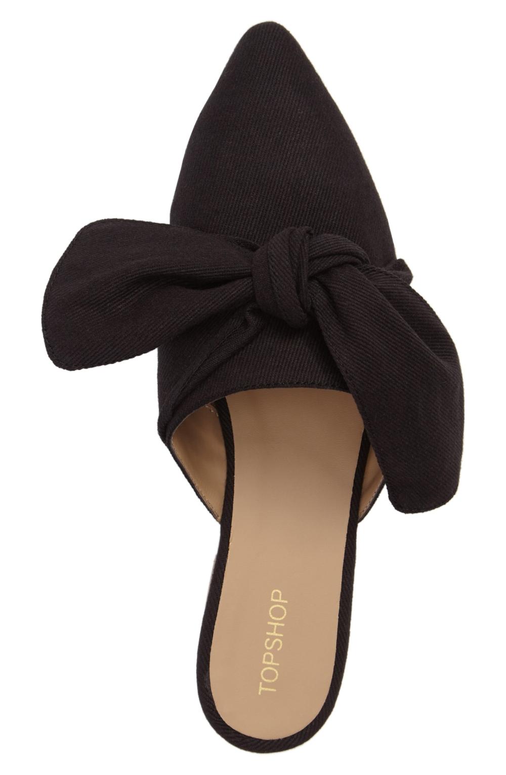 Topshop Adele Bow Flat $45