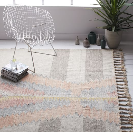 West Elm- Ikat Diamond Dhurrie Rug $629
