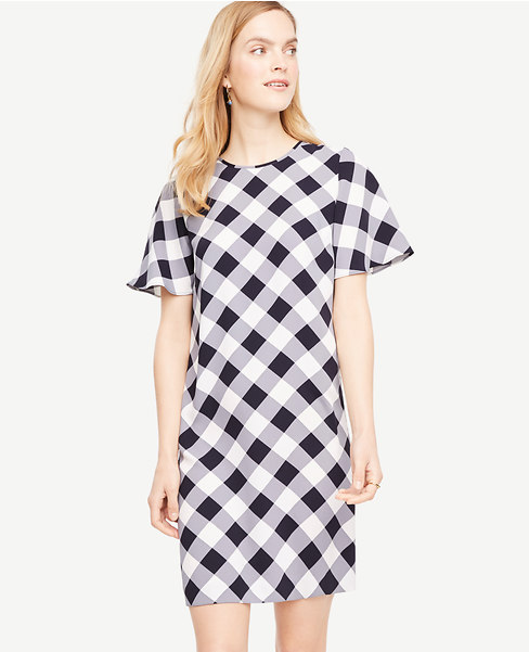 Ann Taylor Gingham Shift Dress