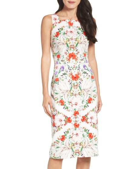 Maggy London Print Sheath Dress