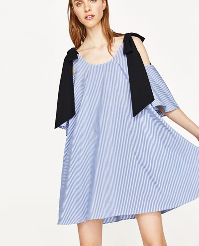 Zara Poplin Bow Dress