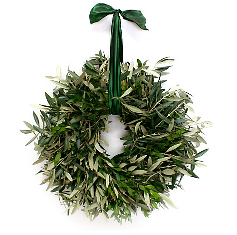 "OKL- 18"" Olive Branch Wreath, Dried $59.00"