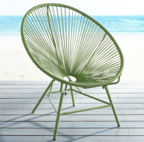 Pier 1- Luca Green Oval Chair $149.95
