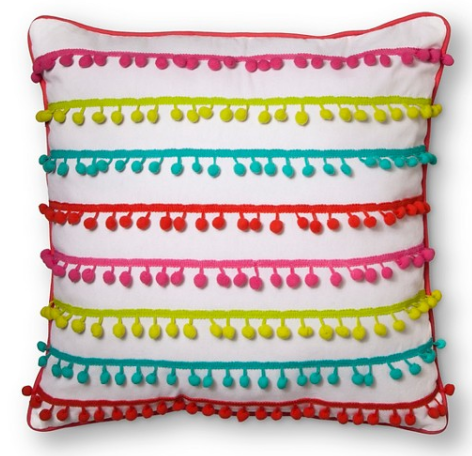 "Target- Pom Pom Throw Pillow 18""X18"" $16.14 (on sale now)"