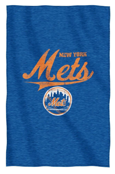 Mets Logo Sweatshirt Throw Blanket
