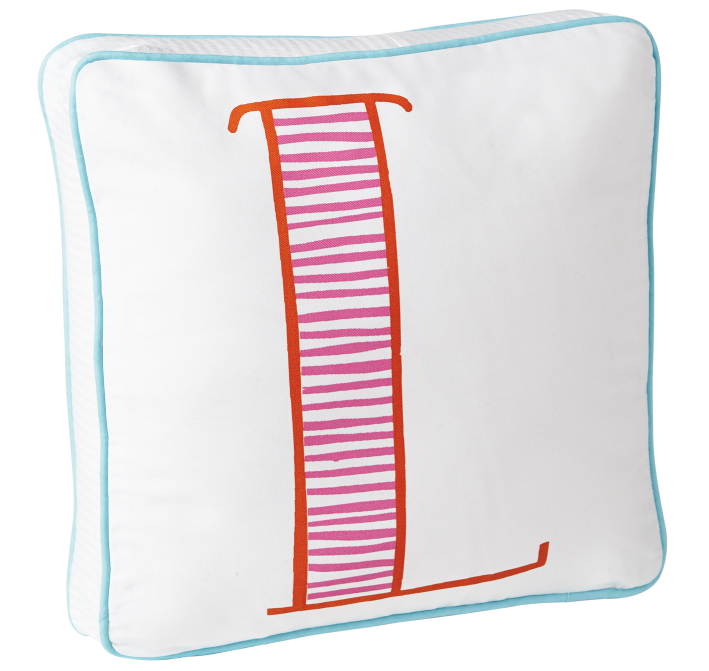 Serena & Lily- Schoolhouse Letter Pillow $58