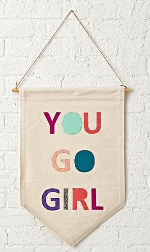 Land of Nod- You Go Girl Banner $39