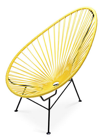 One Kings Lane- Acapulco Lounge Chair, Yellow $239