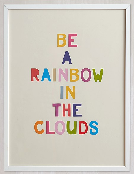 Pottery Barn Kids- Rainbow In A Cloud Wall Art By Minted $89
