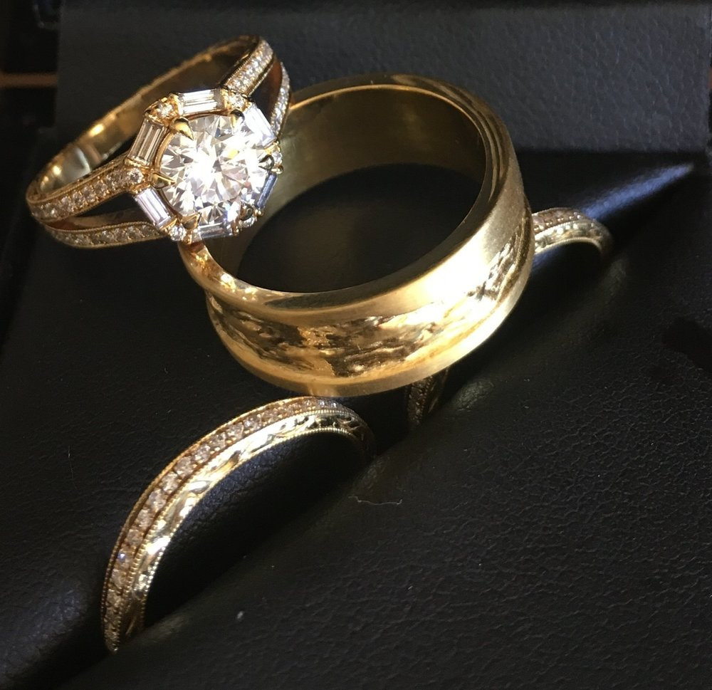 Rings designed by Chris Baum