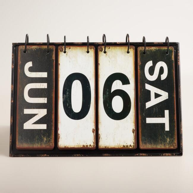 Cost Plus Metal Desk Calendar: $49.99