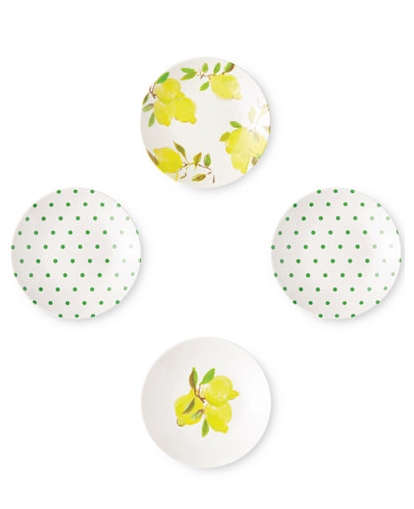 Kate Spade- Lemon Tidbit Plate Set $30.00