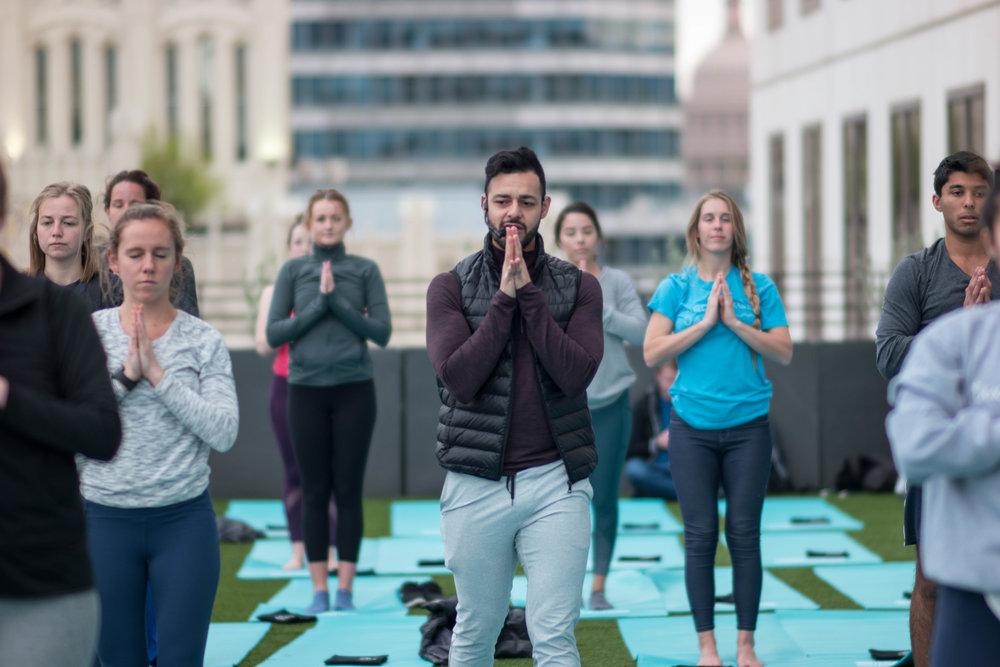 sxsw rooftop yoga