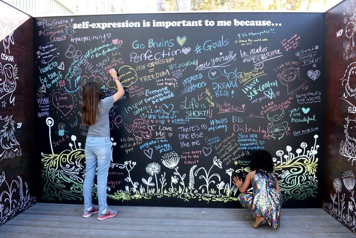 chalkboard event sign