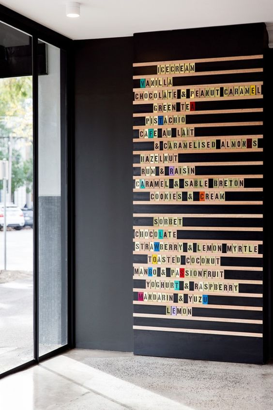 tile letter wall
