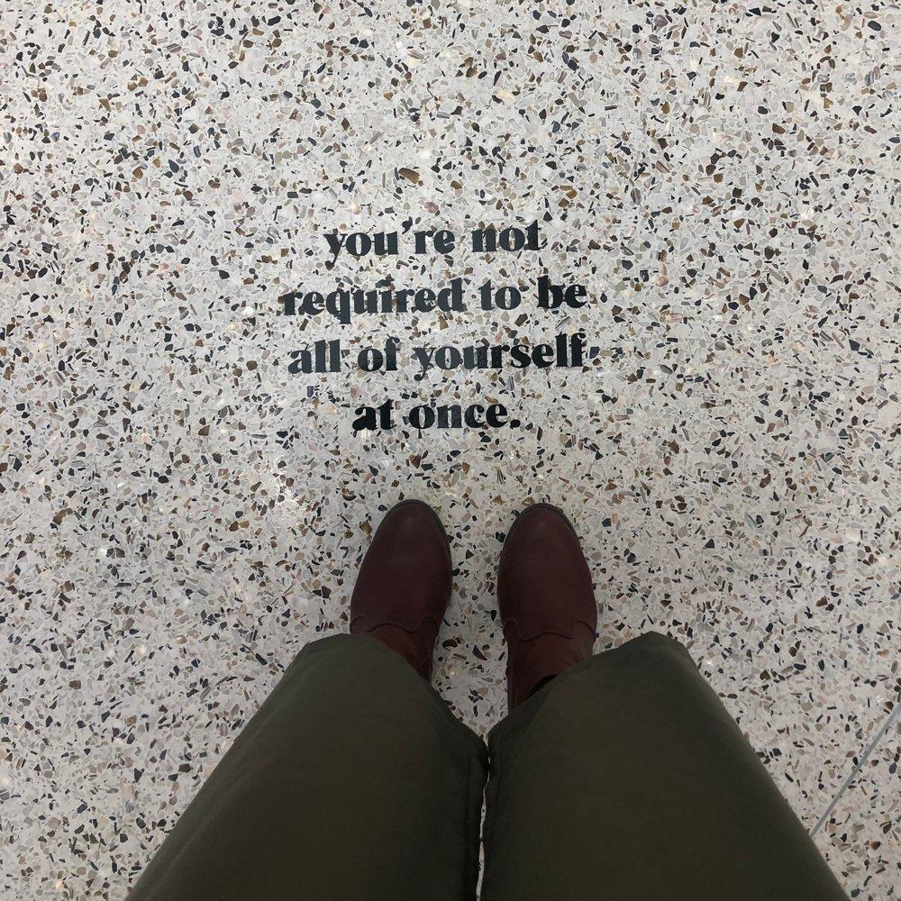 vinyl floor signage
