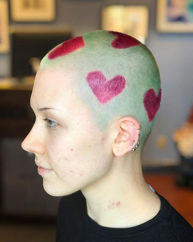LOVE LOVE LOVE... All you need is love ❤️ ⠀⠀⠀⠀⠀⠀⠀⠀⠀ ⠀⠀⠀⠀⠀⠀⠀⠀⠀ ⠀⠀⠀⠀⠀⠀⠀⠀⠀ Claudia COL • @artandfury ⠀⠀⠀⠀⠀⠀⠀⠀⠀ #wachairgroup #hausofwac #wacattack #wearecreative #weactuallycare #davinesnorthamerica #greencirclesalons #chlf #hairbrained #modernsalon #canadianhairdresser #behindthechair #pulpriot #valentinesday #buzzcut #hearts #love #instahair #markhamsalon #mainstreetmarkham #danicolour