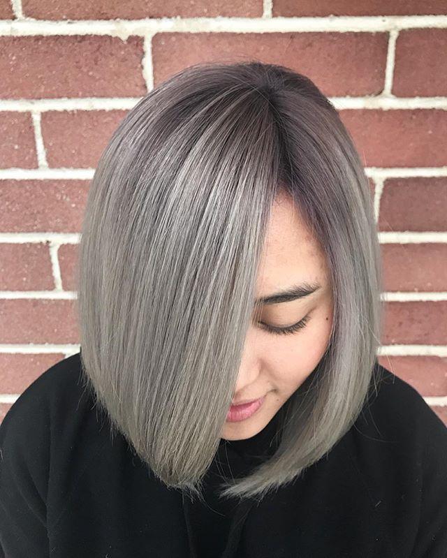 Isabella  COL • @artandfury ⠀⠀⠀⠀⠀⠀⠀⠀⠀ #wachairgroup #hausofwac #wacattack #wearecreative #weactuallycare #davinesnorthamerica #donewithdavines #davinescolor #greencirclesalons #chlf #hairbrained #modernsalon #canadianhairdresser #behindthechair #ashblonde #rootshade #colormelt #instahair #markhamsalon #mainstreetmarkham #danicolour