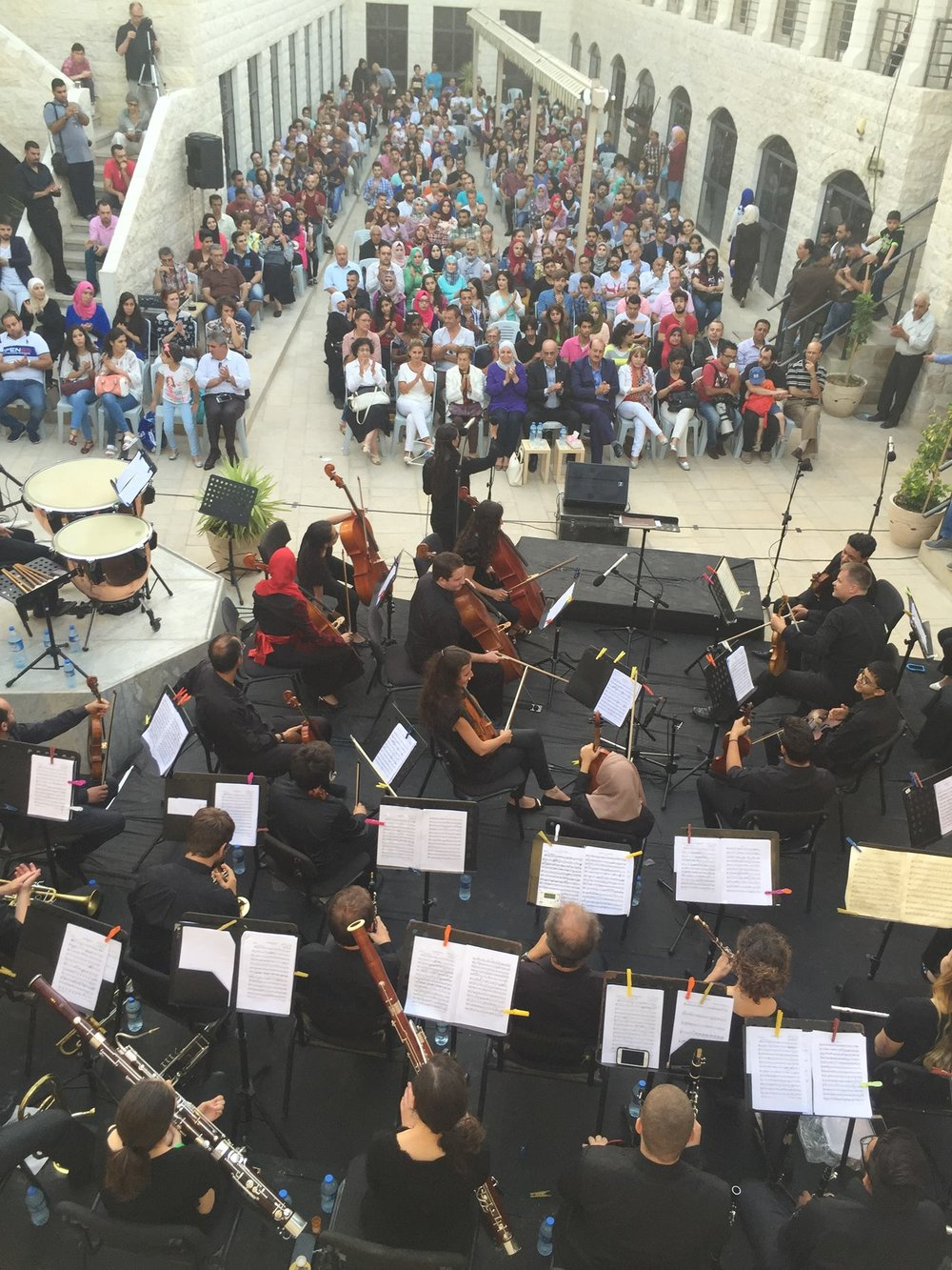 NABLUS, WEST BANK   Palestinian musicians and musicians all over the world joined together for this concert tour.