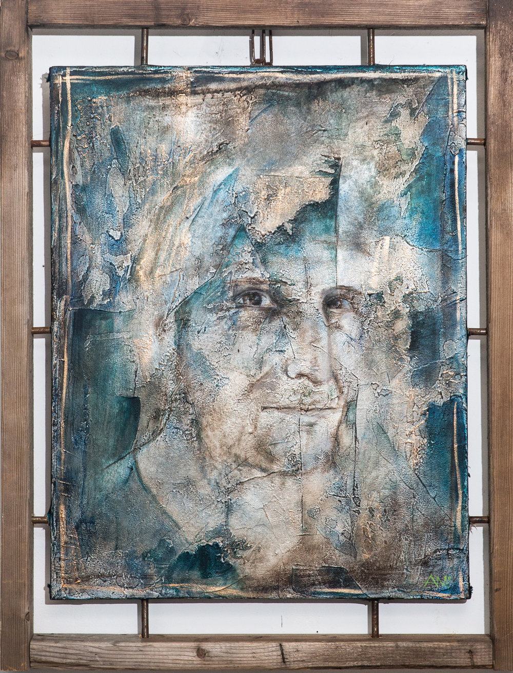 Pictured : Joe Frascogna as painted by Andrea McKenna;  Photo Credit:  Anna Ryabstov