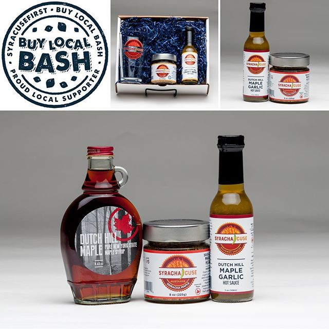 The @syracusefirst Buy Local Bash is less than 4 days away. Don't miss the event of the season. Syracha'Cuse will be slinging free samples of our hot sauces & mustards. We'll also have some cool Holiday gift sets & stocking stuffers stop by & check out your local hometown hot sauce & mustard guys! #craftbeer #maplesyrup #iloveny