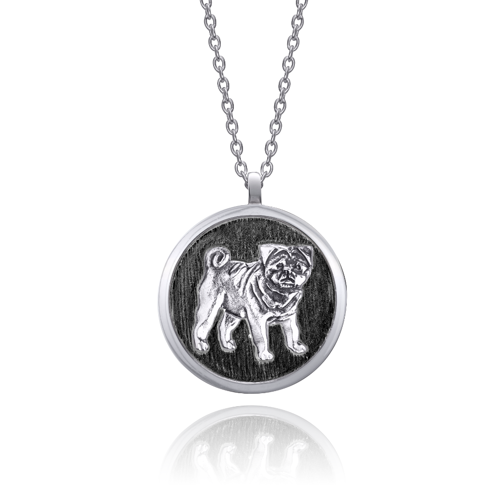 pug-dog-necklace-black
