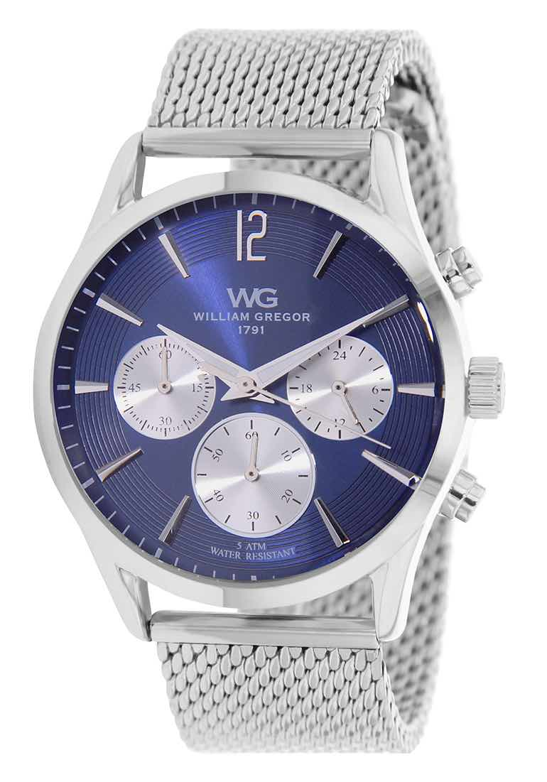 cd4fb336c6 William Gregor Montre Homme - Bracelet Acier - Fonction Chrono ...