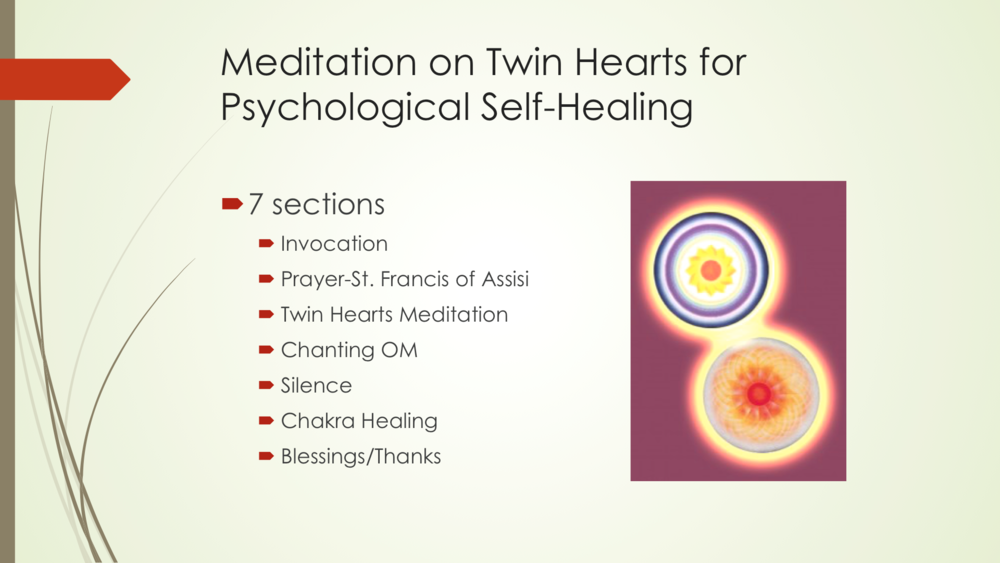 Meditation on Twin Hearts for Psychological Self-Healing