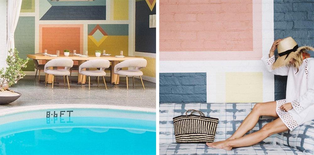 Left: @avalonhotels | Right:@Damselindior