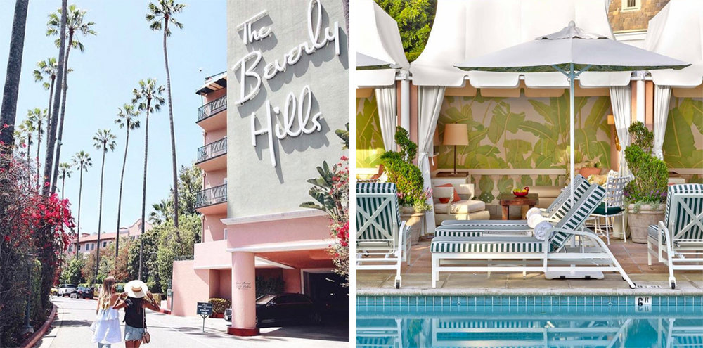 Letf: @sincerelyjules   |   Right: @bevhillshotel