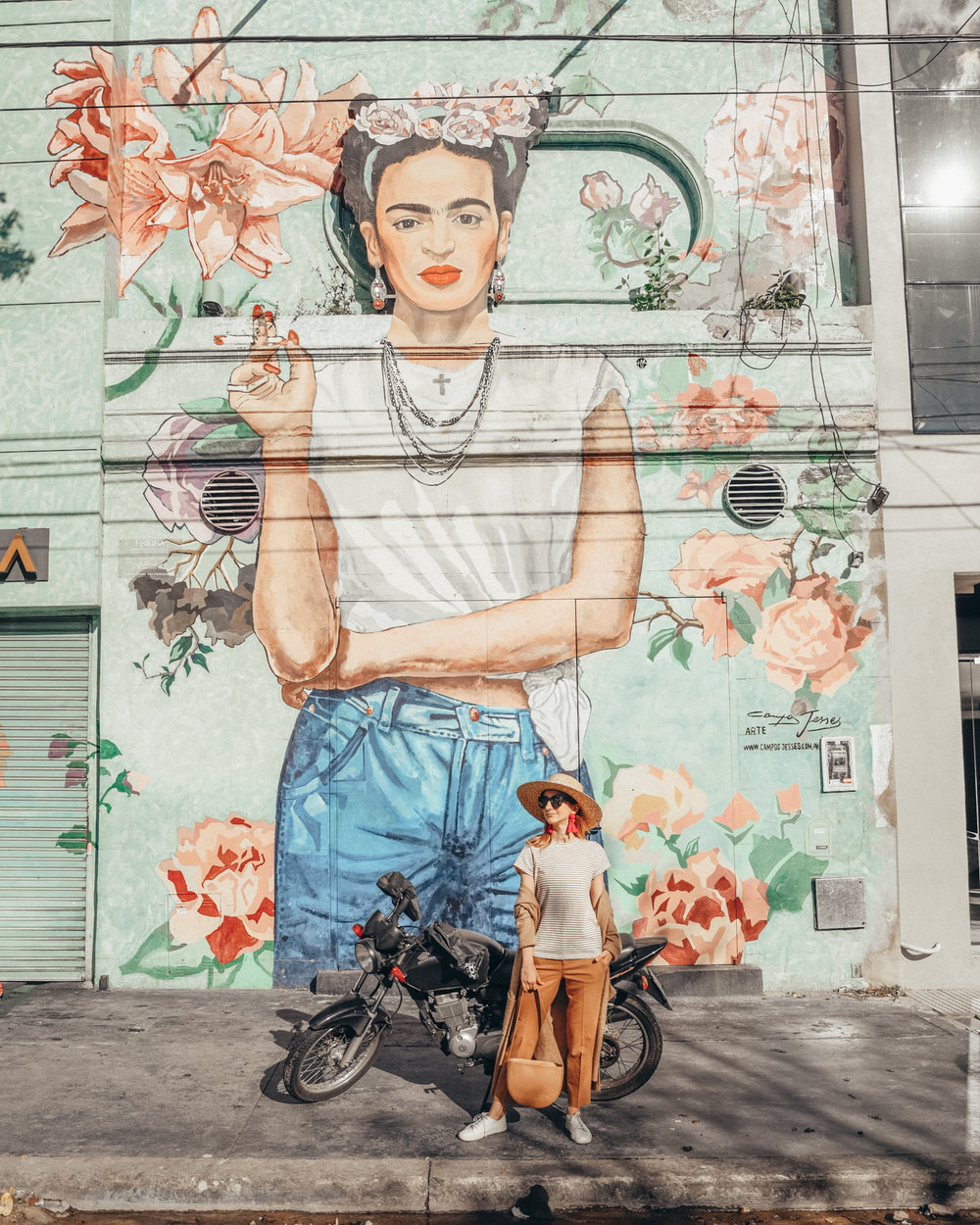 The famous Frida mural