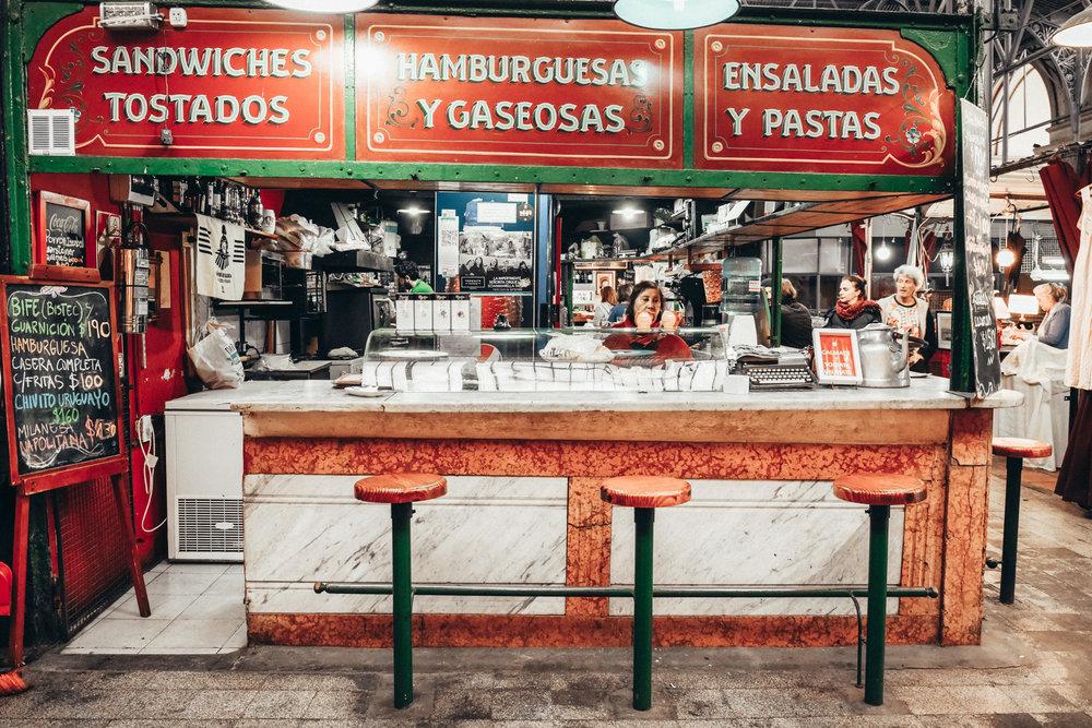 Inside the Mercado San Telmo