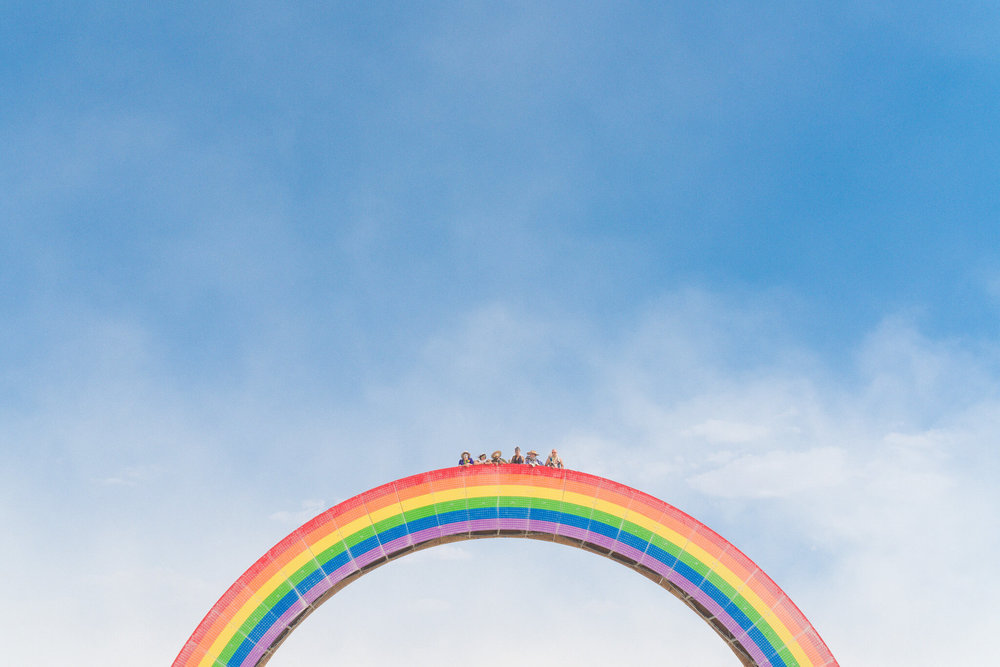 burning man 2018 rainbow