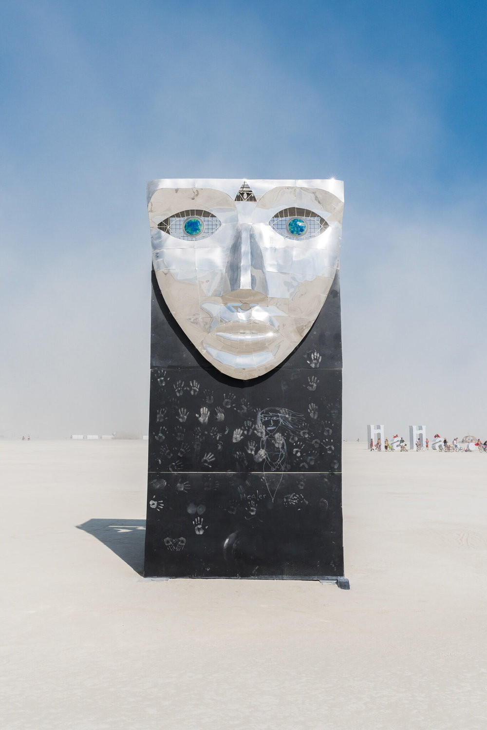 big metal face burning man 2018