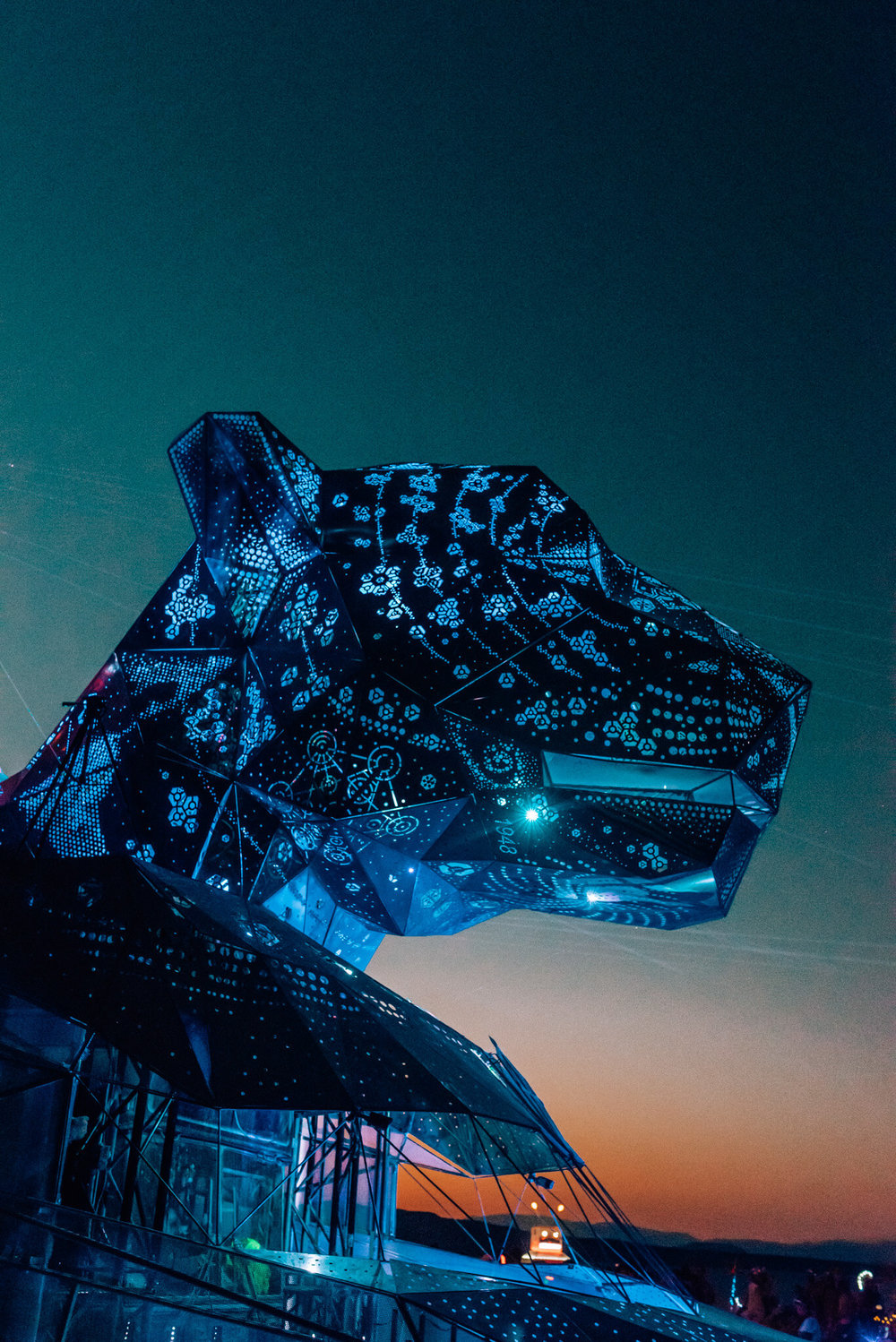 jaguar car burning man 2018