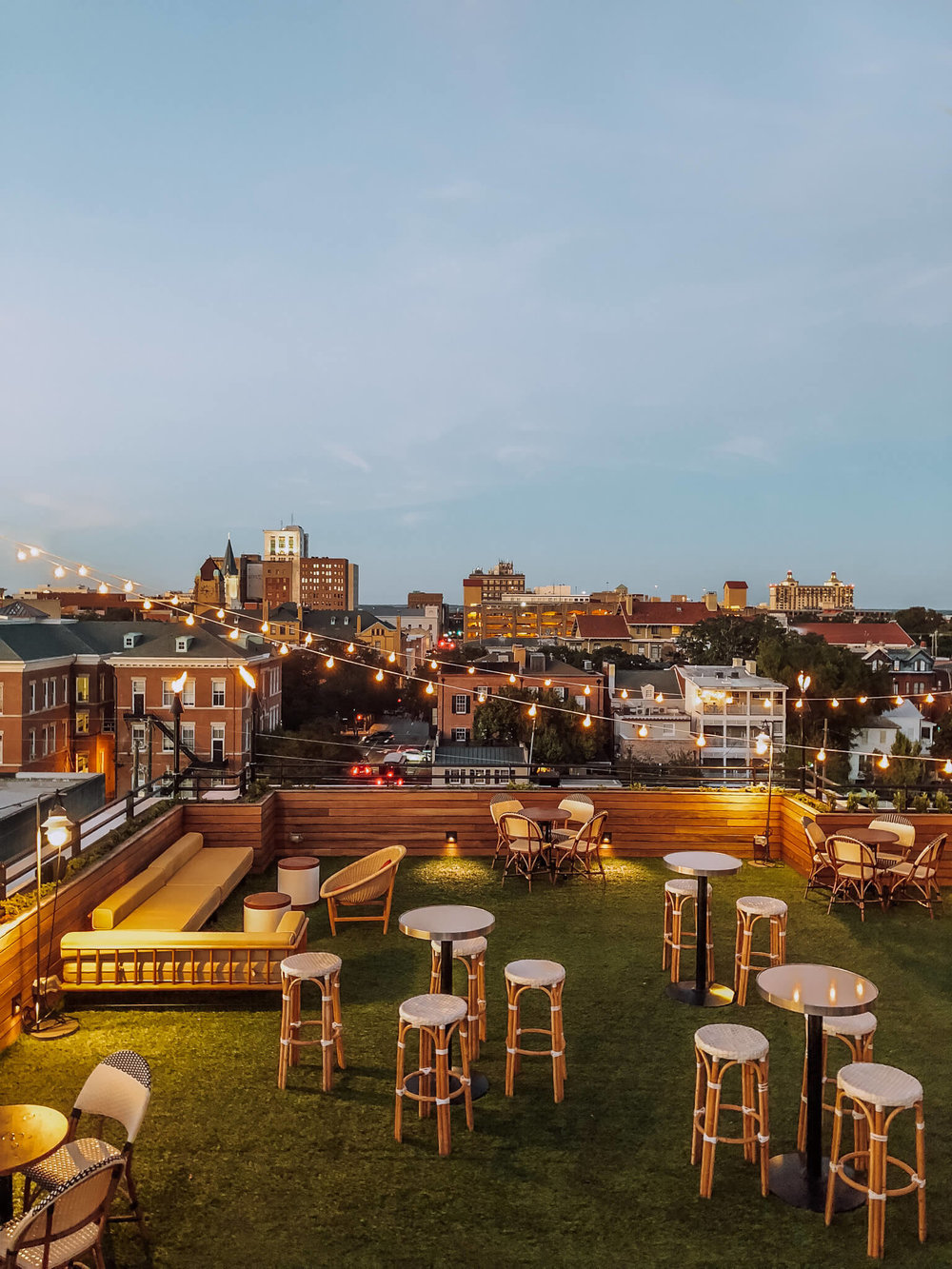 Perry Lane's rooftop bar offers sweeping views and delicious drinks