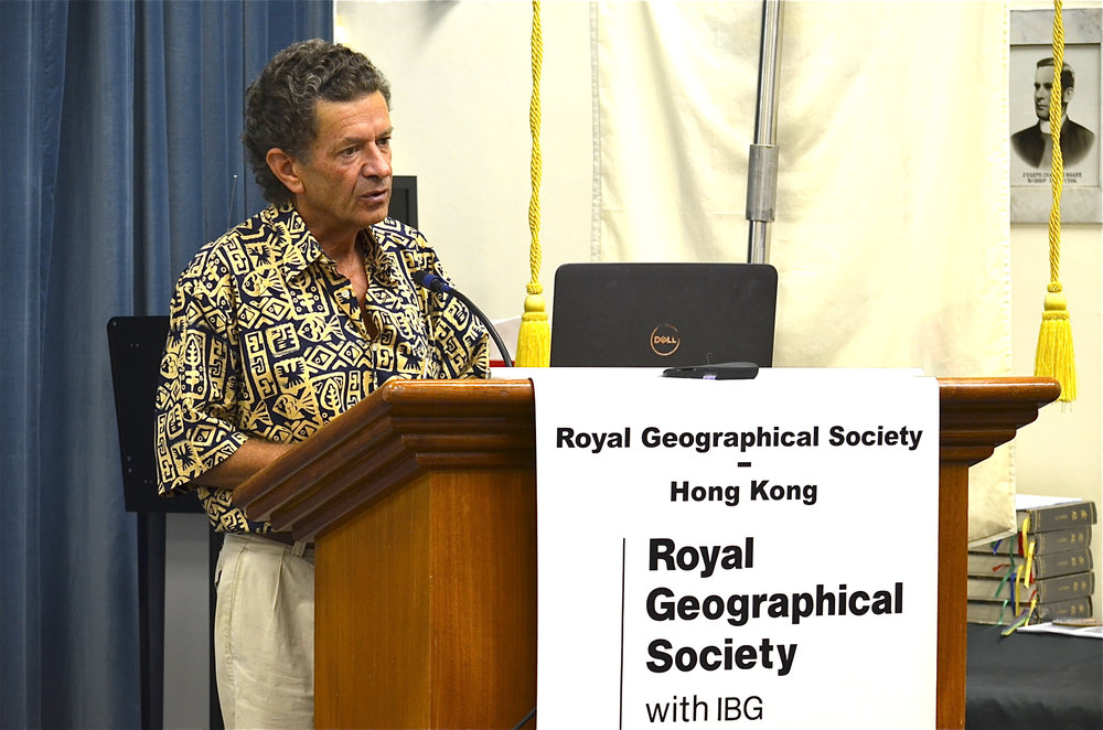 Pierre at the RGS in Hong Kong (March 2017)