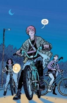 The paper girls confront some bullies.