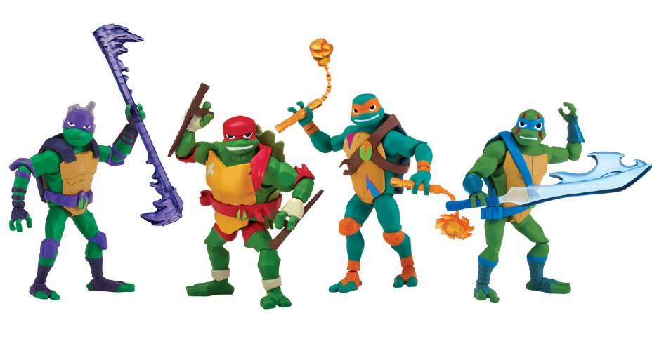 Rise of the Teenage Mutant Ninja Turtles Basic Figures- Image via Playmates
